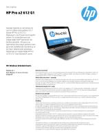 HP Pro x2 612 G1 - Hewlett Packard