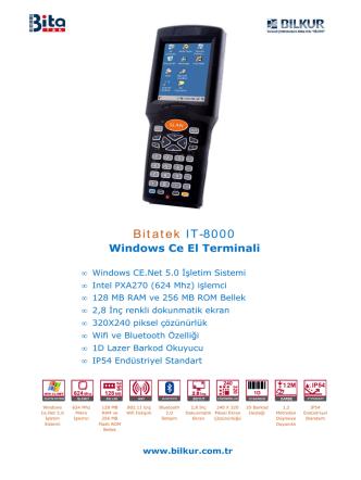 Bitatek IT-8000 Teknik Özellikler