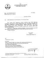 Müdürlüğümüzün konu ile ilgili 17/11/2014 tarih ve 5362738 sayılı
