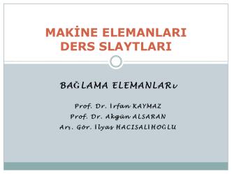 Bağlama Elemanları - Mehmet Adem Yıldız
