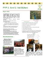 PYP 2. Sınıf 2. Veli Bülteni