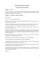 Futbol Disiplin Talimatı - Türkiye Futbol Federasyonu