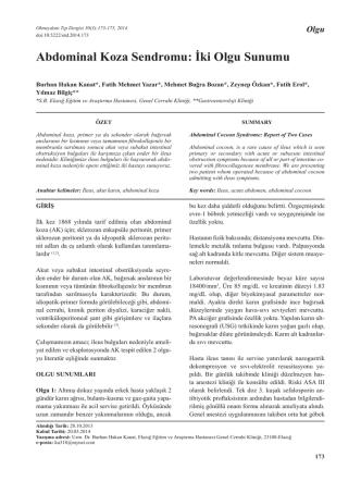 Abdominal Koza Sendromu: İki Olgu Sunumu