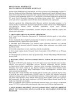 ORMAN GENEL MÜDÜRLÜĞÜ 2014 YILI ORMAN MUHENDİSİ