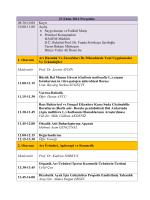 Program - Düzce Üniversitesi Arıcılık ve Arı Ürünleri AR