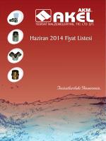 Haziran 2014 Fiyat Listesi