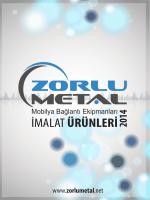 Yeni Ürün Kataloğu - Zorlu Metal Mobilya bağlantı ekipmanları