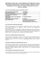 Milli Eğitim Bakanlığı, Temel Eğitimden Ortaöğretime Geçiş