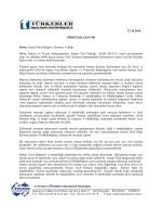 27.10.2014 Sanayi Sicil Belgesi Alınması Tebliği