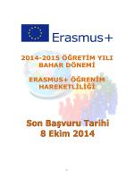 2010-2011 güz dönemi erasmus öğrenci öğrenim hareketliliği