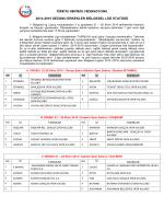 türkiye hentbol federasyonu 2014-2015 sezonu erkekler bölgesel
