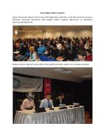 Kutlu Doğum Haftası Programı Selçuk Üniversitesi Akören Ali Rıza