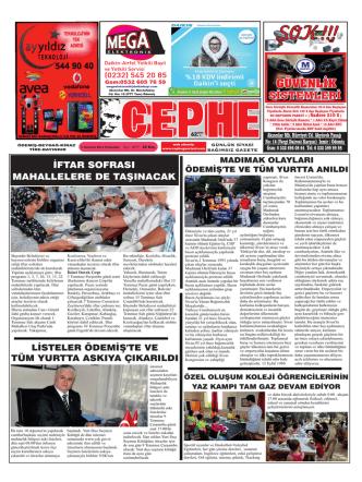 03.07.2014 Tarihli Cephe Gazetesi