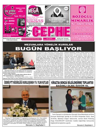 25.10.2014 Tarihli Cephe Gazetesi