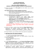 ULUDAĞ ÜNİVERSİTESİ İnegöl Meslek Yüksekokulu 2013