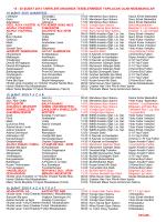 20 ŞUBAT 2015 MÜSABAKA PROGRAMI