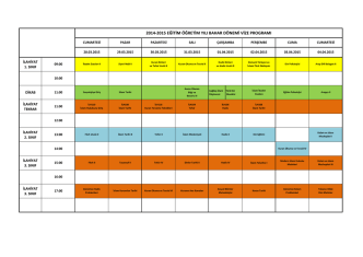 2014-2015 eğitim öğretim yılı bahar dönemi vize programı