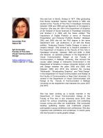 Associate Prof. Hatice ÖZ Işık University Faculty of Fine Arts Visual