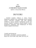 DUYURU - Bursa Adliyesi