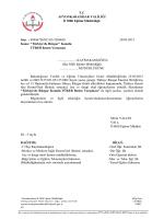 Müdürlüğümüzün konu ile ilgili 24/03/2015 tarih ve 3209605 sayılı
