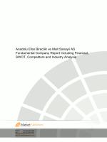 Anadolu Efes Biracilik ve Malt Sanayii AS Fundamental Company