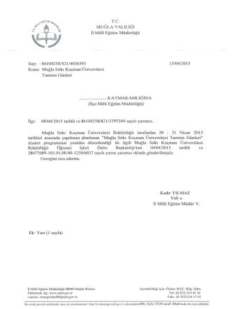 21 Nisan 2015 tarihleri arasında yapılması planlanan