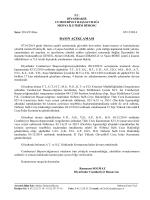 05.12.2014 tarihli basın açıklaması
