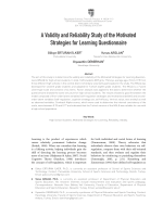A Validity and Reliability Study of the Motivated