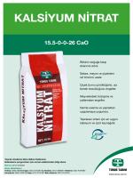 Kalsiyum Nitrat Kullanım Rehberi