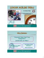 Triyaj uygulamaları - Çocuk Acil Tıp Kongresi