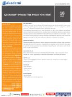 mıcrosoft project ile proje yönetimi