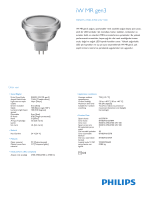 Product Leaflet: iW MR g3 RS501S lamba, 100º ışın açılı