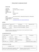 cv 2014 may - Mühendislik ve Mimarlık Fakültesi
