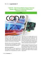 """""""CAN FD"""", Özel Amaçlı Makine Sanayi Alanında"""