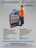 KN/54 HB A - Flaş Alın Kaynak Makinası
