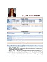 Arş.Gör. Müge AKKARA - Celal Bayar Üniversitesi