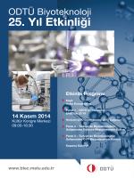 ODTU Biyoteknoloji 25. Yıl Etkinlik Posterleri Listesi