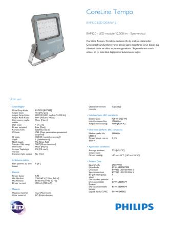 CoreLine Tempo BVP120 projektör aydınlatma armatürü