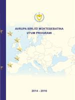 Avrupa Birliği Müktesebatına Uyum Programı (2014-2016)