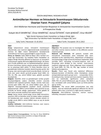 Antimüllerian Hormon ve İntrauterin İnseminasyon Sikluslarında