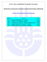 Denizyolu-Havayolu-Karayolu Entegre Taşımacılık Tarifesi