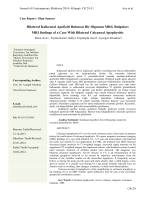 Bilateral Kalkeneal Apofiziti Bulunan Bir Olgunun MRG Bulguları