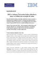 IBM Üniversite İlişkileri - Veri Analitiği