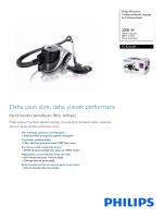 FC9225/01 Philips Torbasız elektrikli süpürge ile TriActive başlık