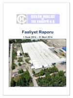 2014 Yılı 1.Ara Dönem Faaliyet Raporu