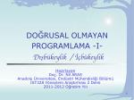 X - Endüstri Mühendisliği Bölümü | Anadolu Üniversitesi