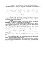 Genel İlkeler Başvuru ve Sonuçların ilanı