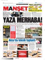 yaza merhaba! - Akdeniz Manşet
