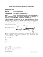 Dövizli Çek Düzenleme Bilgi ve Talep Formu