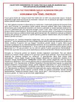 korunmak için temel öneriler - Hacettepe Üniversitesi Tıp Fakültesi